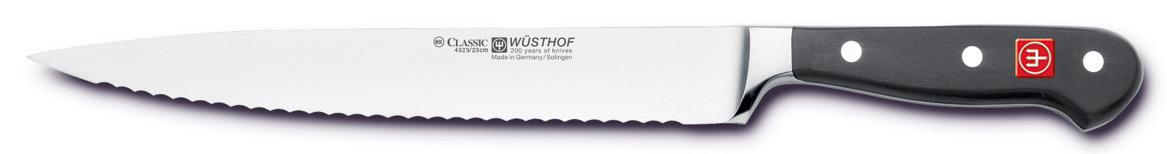 Schinkenmesser Klingenlänge 230 mm / 360 mm lang Wellenschliff