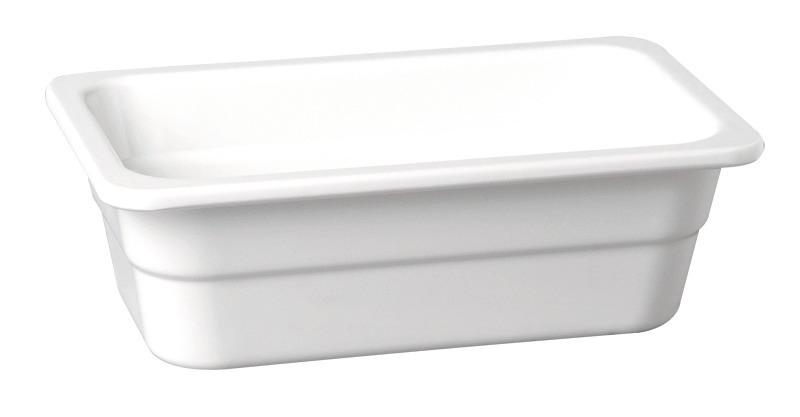 GN-Behälter GN 1/6 1,25 l / 176 x 162 x 100 mm weiß
