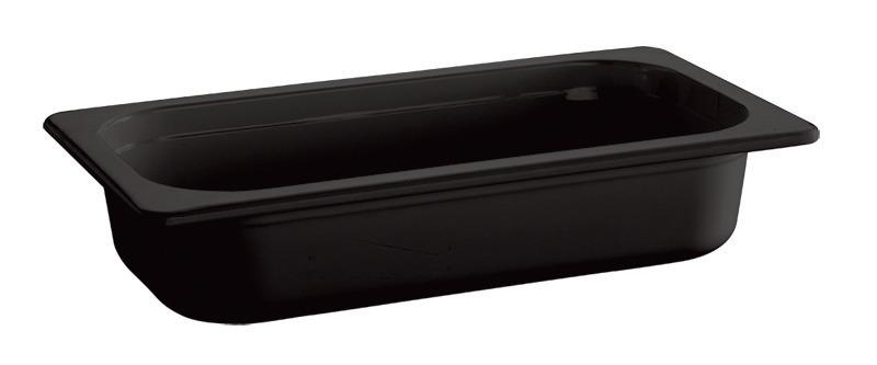 GN-Behälter GN 1/4 1,35 l / 265 x 162 x 65 mm schwarz