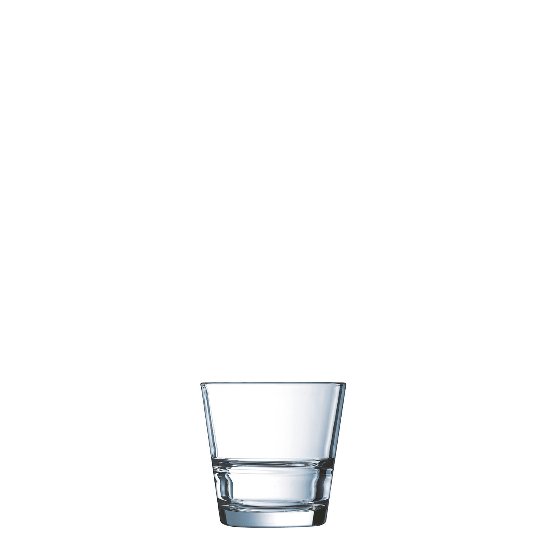 "Whiskyglas stapelbar ""FB21"" 83 mm / 0,21 l transparent"