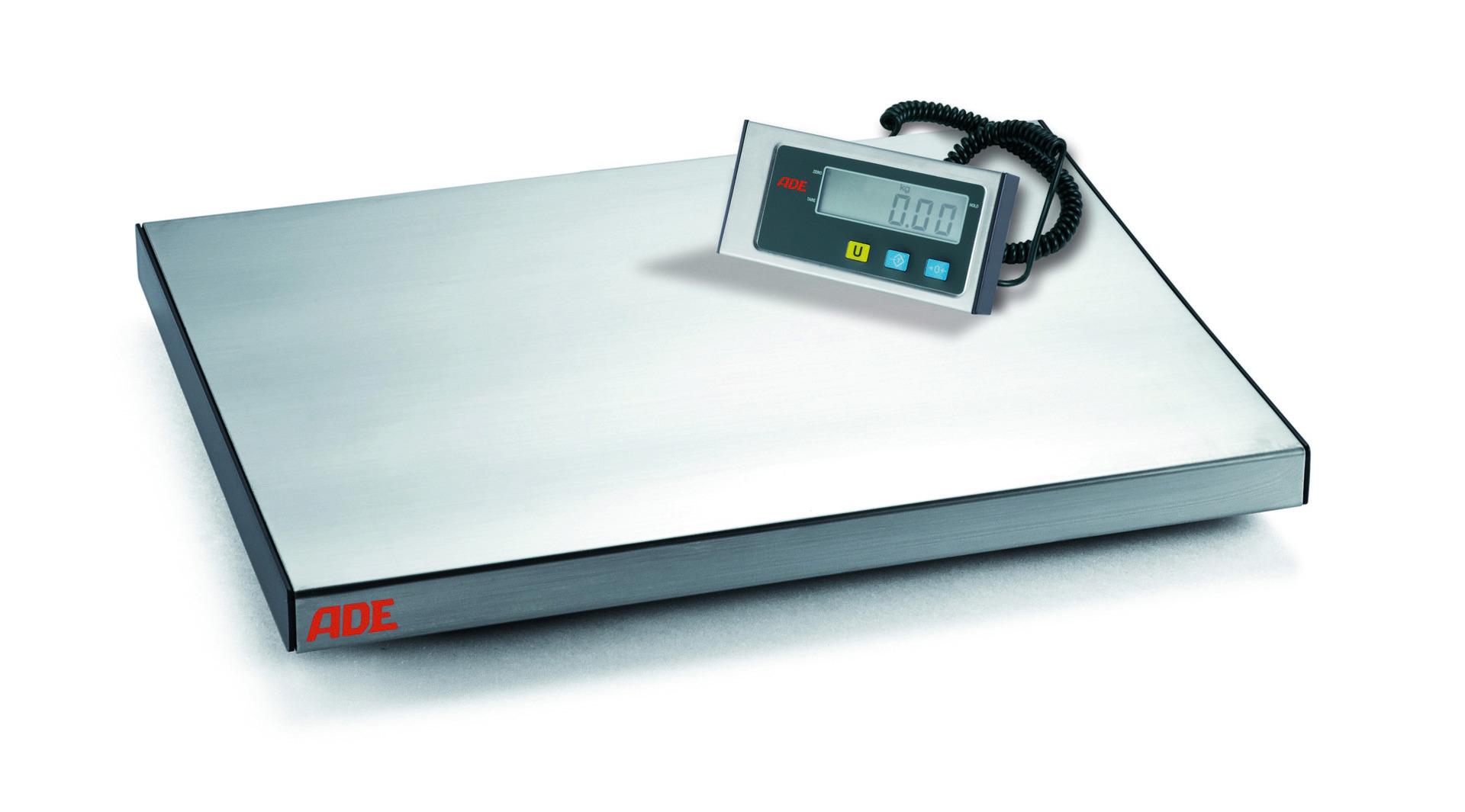 Elektronische Plattformwaage bis 60 kg Netz- und Batteriebet. 370 x 300 x 40 mm