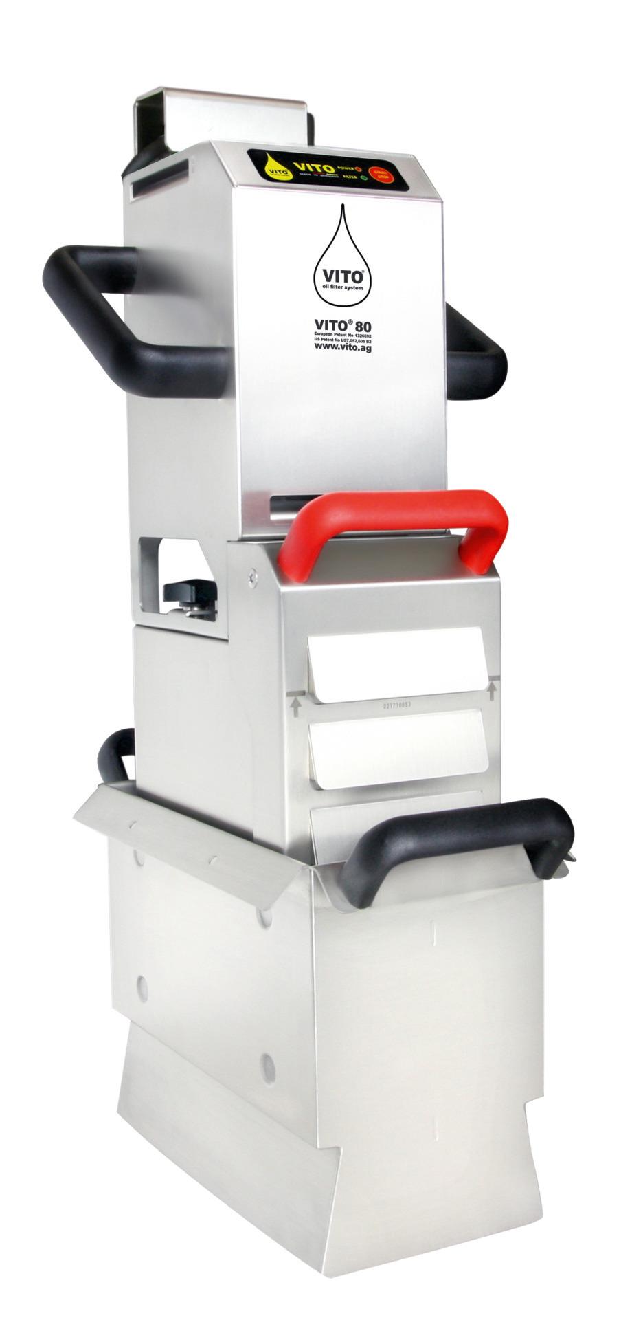 Frittierölfilter Vito 80 / Leistung bis  zu 80,00 l/min. / Sogtiefe bis 450 mm