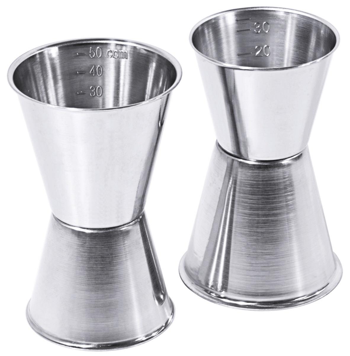 Cocktail-Doppelmaß 0,03 l + 0,05 l / 85 mm hoch graduiert seidenmatt