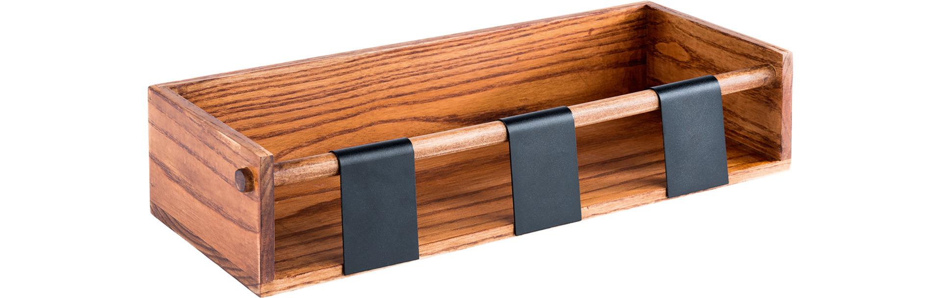 Dressingtopf-Display /-Station 400 x 160 x 90 mm + 3 Beschriftungsschilder