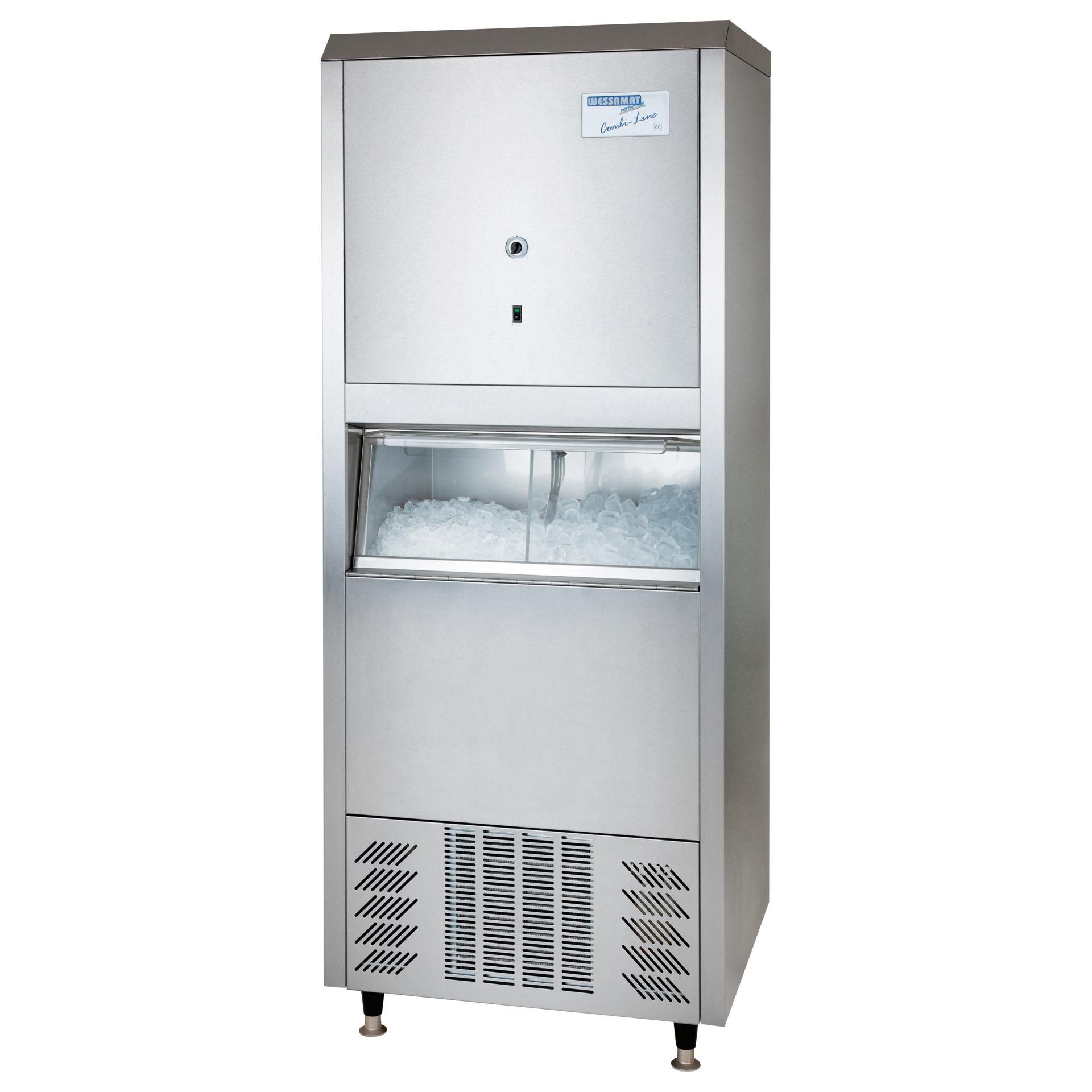 Eiswürfelbereiter W 80 ECW / 80,00 kg/ 24 h/ 67,00 kg Vorrat / Wasserkühlung