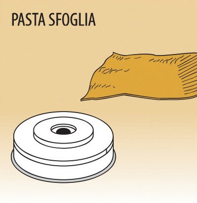 Matrize Pasta Sfoglia für Nudelmaschine 516001