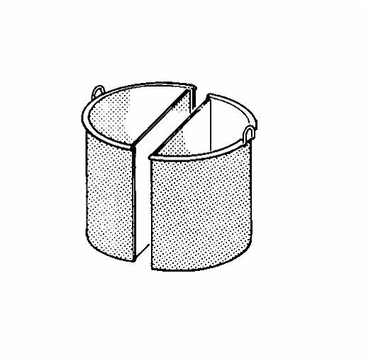Kochkessel-Einsatz 50 l, 2-teilig