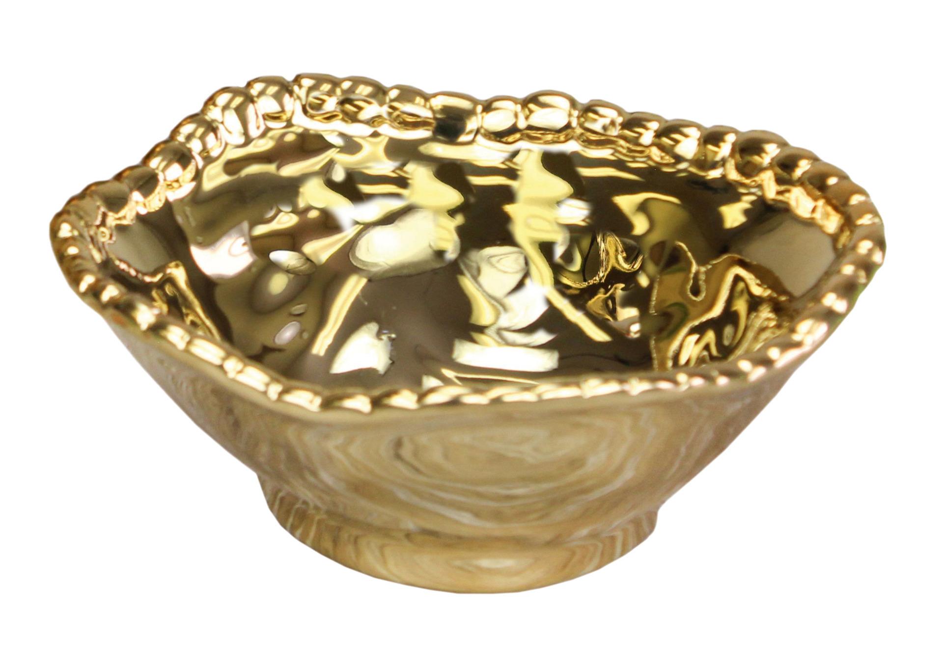 Snackschale klein mit Titanbeschichtung 0,20 l / 140 x 121 x 51 mm / gold