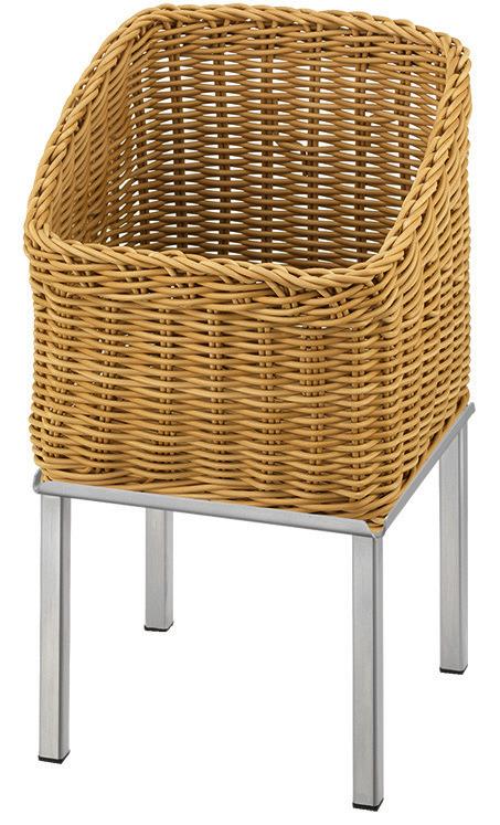 Brotkorb 330 x 330 mm 6,50 l beige /  mit L-Standfuß Stainless Steel