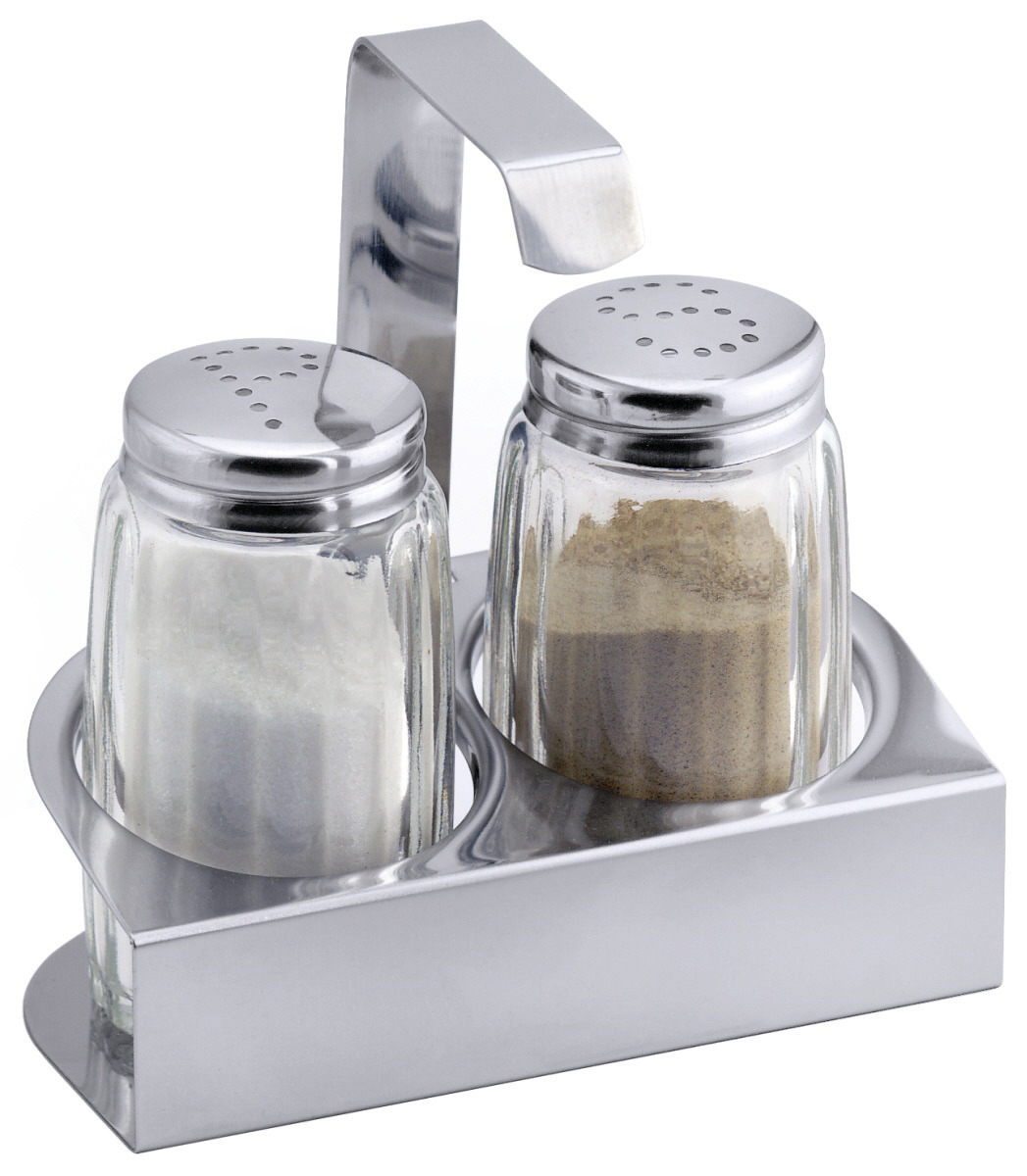 Salz- / Pfeffer-Menage 2-tlg. 100 x 53 x 115 mm hochglänzend