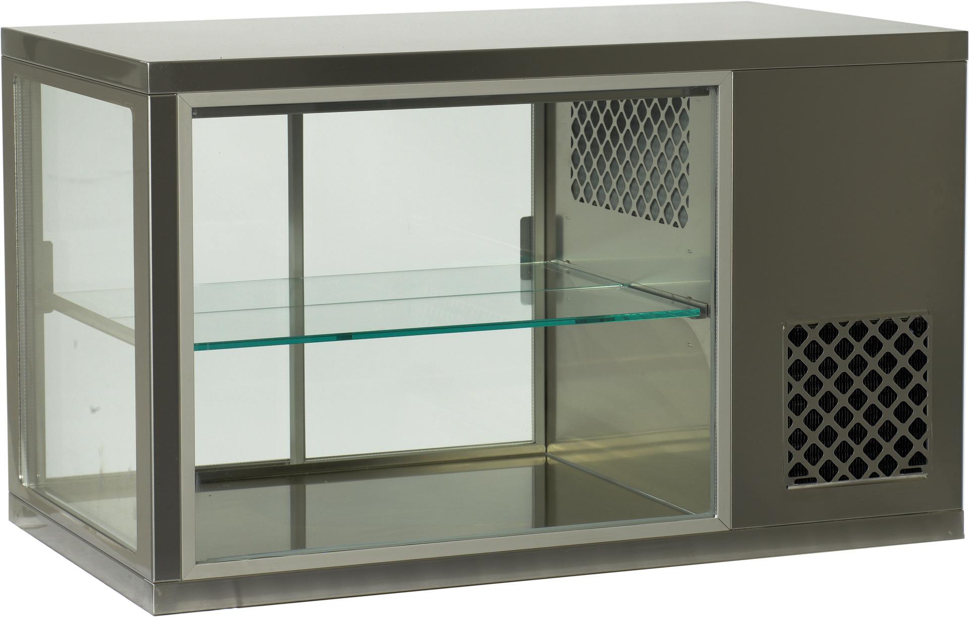 Aufsatzkühlvitrine 1 Zwischenetage /  Nettoinhalt 221,00 l / steckerfertig
