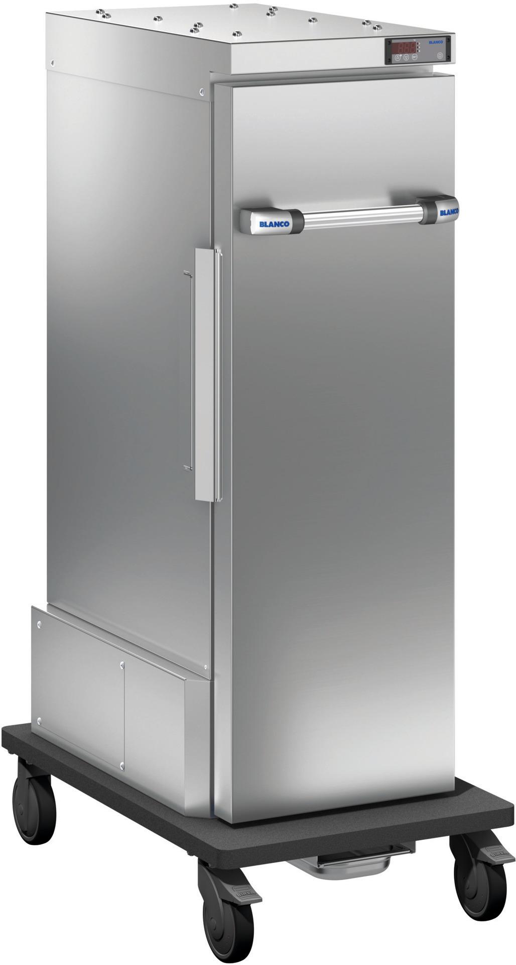 Blancotherm Frontlader Edelstahl / Umluftkühlung / 4 x GN 1/1 / fahrbar