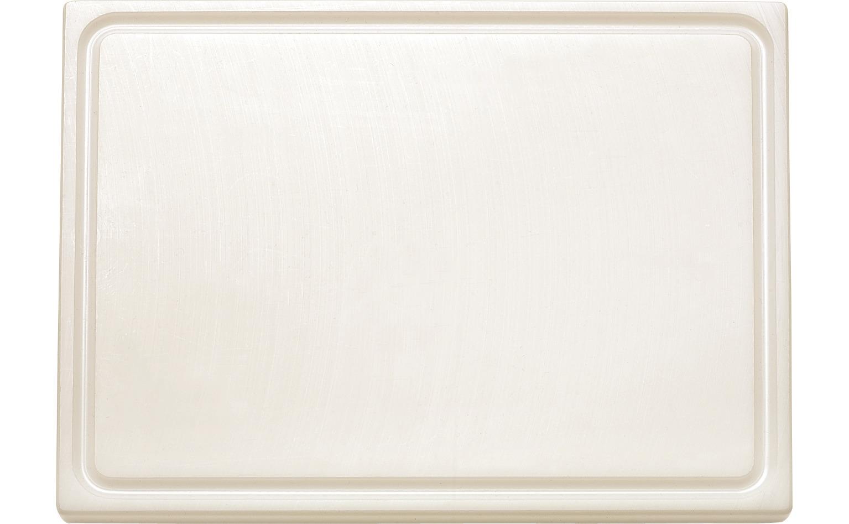 GN-Schneidbrett mit Saftrille GN 1/1 530 x 325 x 18 mm weiß