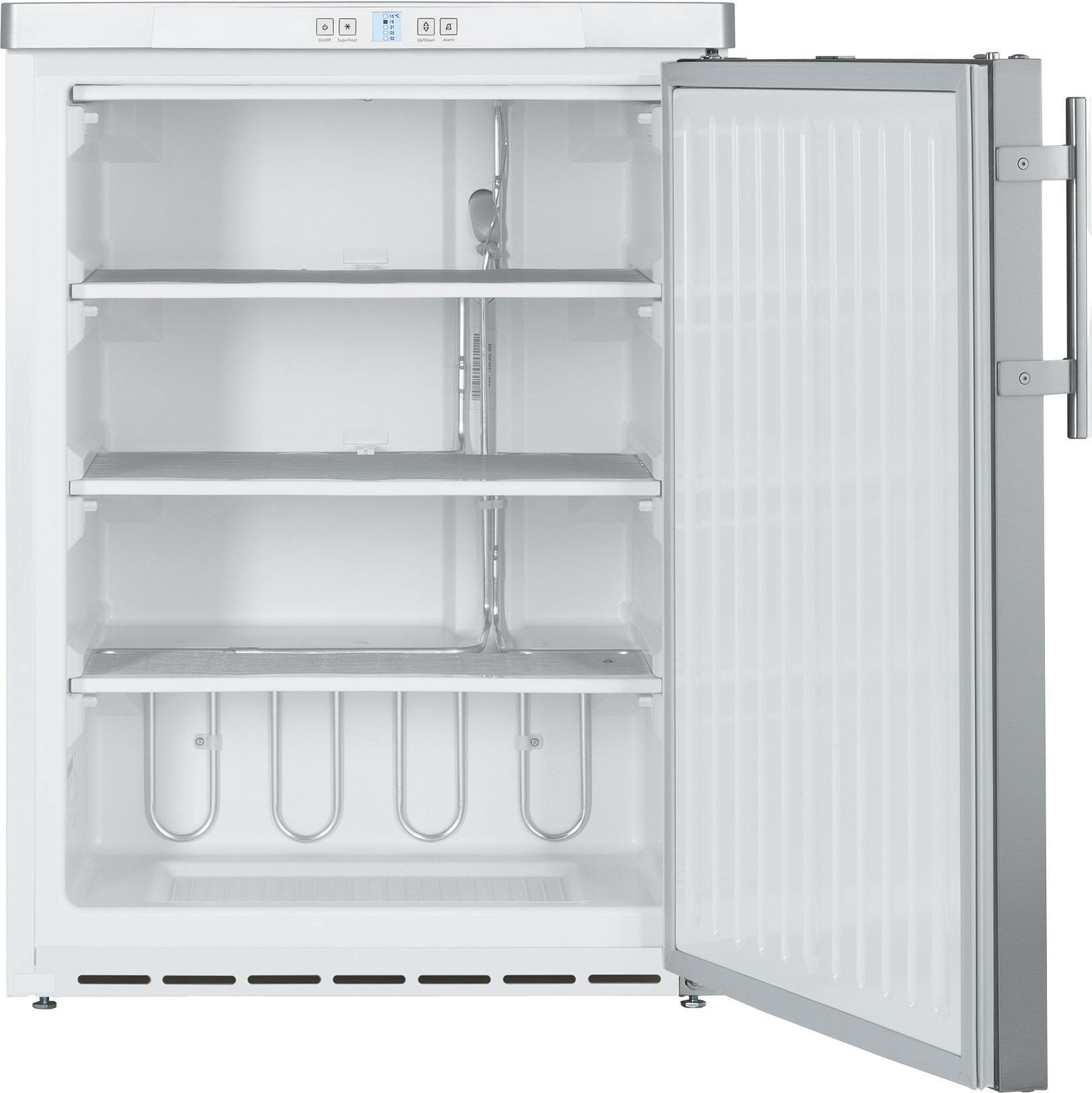 Tiefkühlschrank 143,00 l / statische  Kühlung / mit CHR-Volltür /unterbaufähig