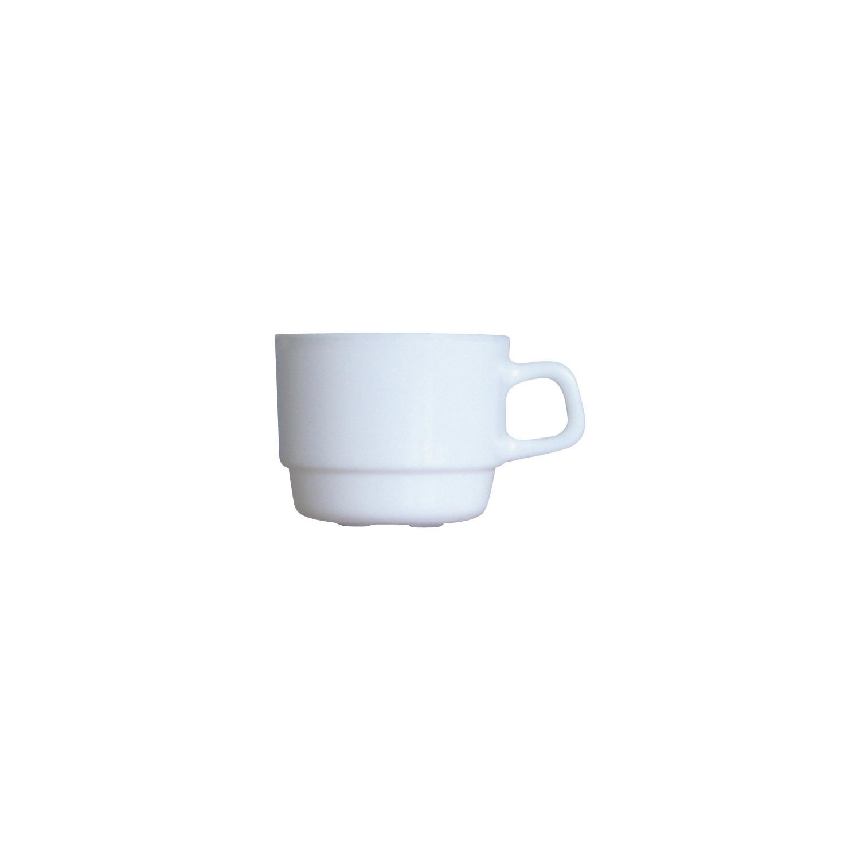 Tasse stapelbar 78 mm / 0,19 l uni weiß