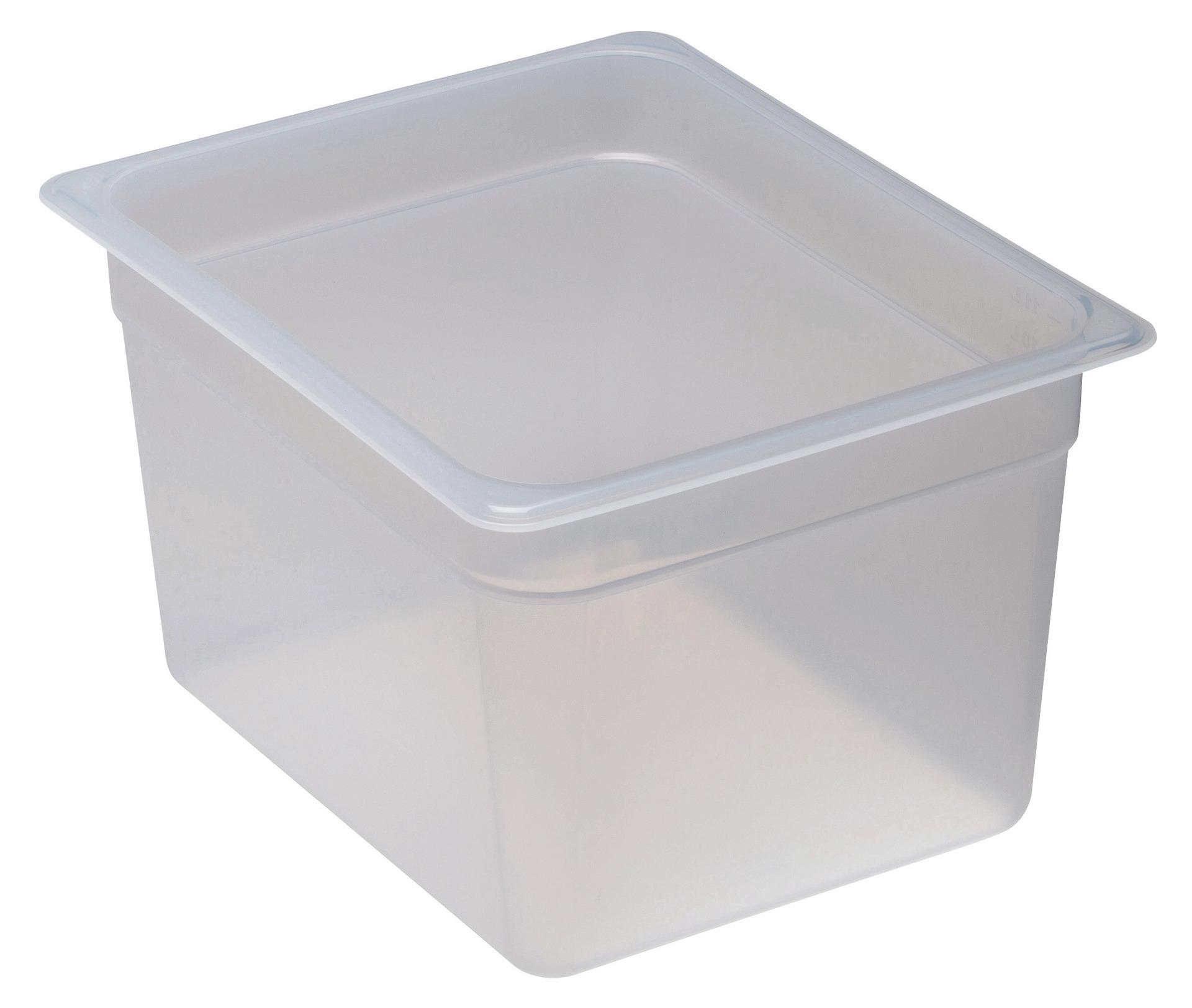 GN-Behälter GN 1/2 11,70 l / 325 x 265 x 200 mm transparent