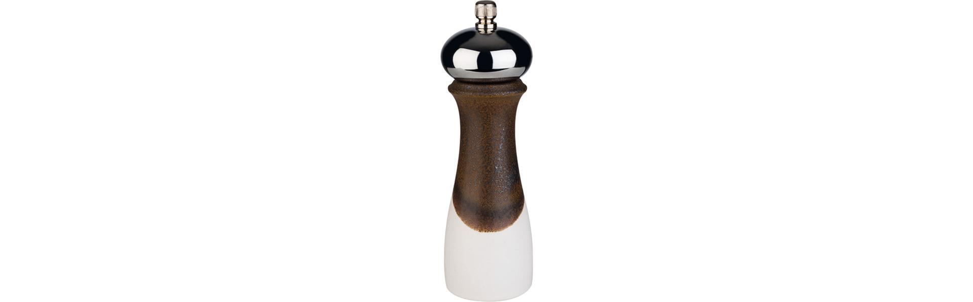 Pfeffermühle 180 mm Porzellan / ABS weiß / braun
