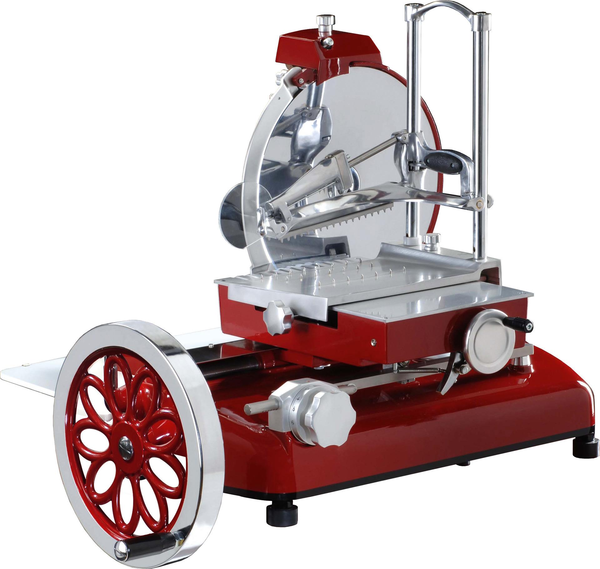 Aufschnittmaschine manuell mit Blumenrad Messer ø 350 mm 710 x 870 x 800 mm