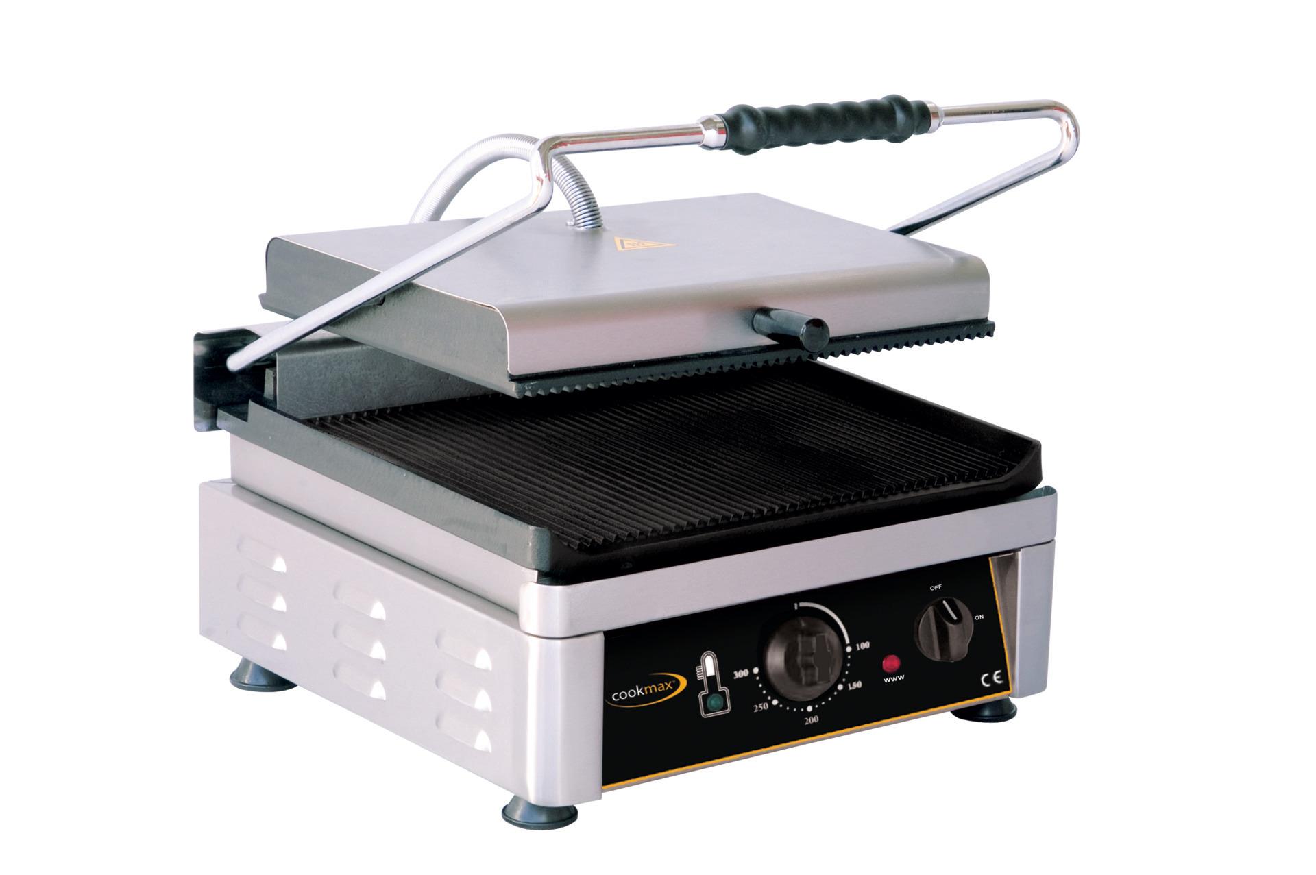 Elektro-Kontaktgrill oben + unten gerillt 410 x 500 x 300 mm