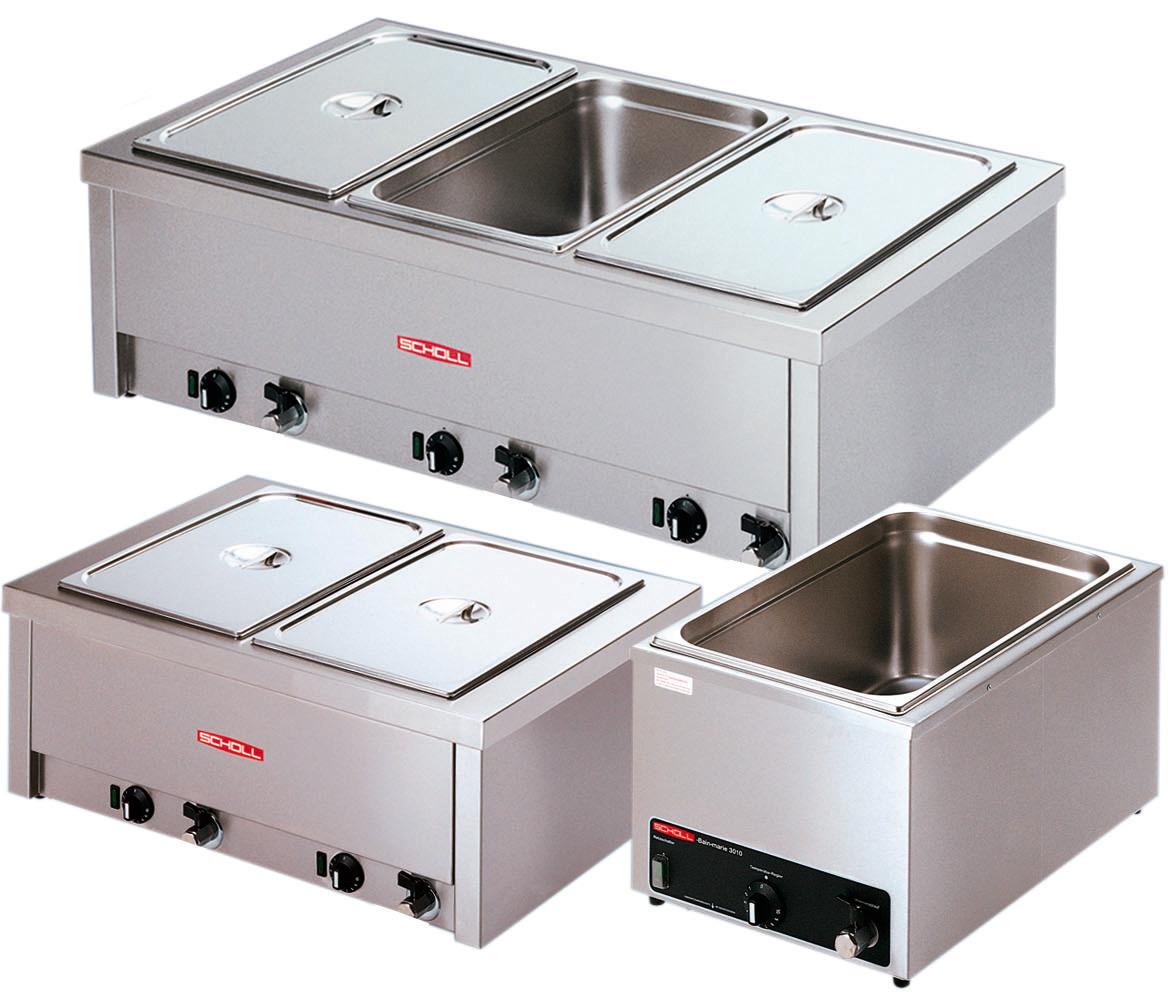 Elektro-Bain Marie 2 x GN 1/1 -  200 mm tief / 2,00 kW / Tischgerät