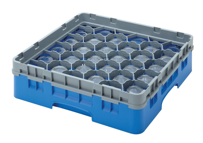 Gläserspülkorb 25 x bis 132 mm Glashöhe 500 x 500 x 184 mm marineblau