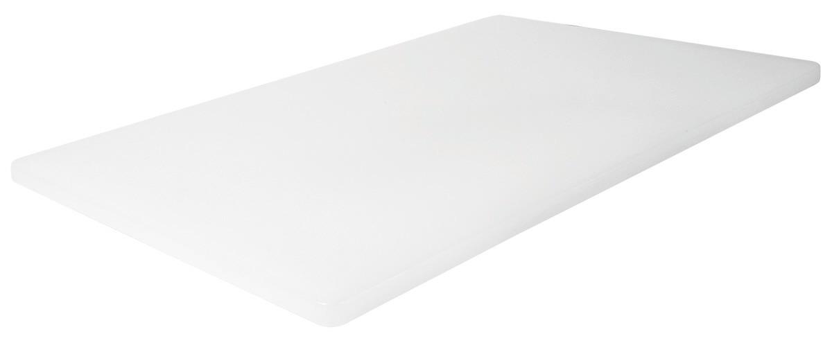 Schneidbrett HACCP 450 x 300 x 12 mm mit Füßchen / weiß