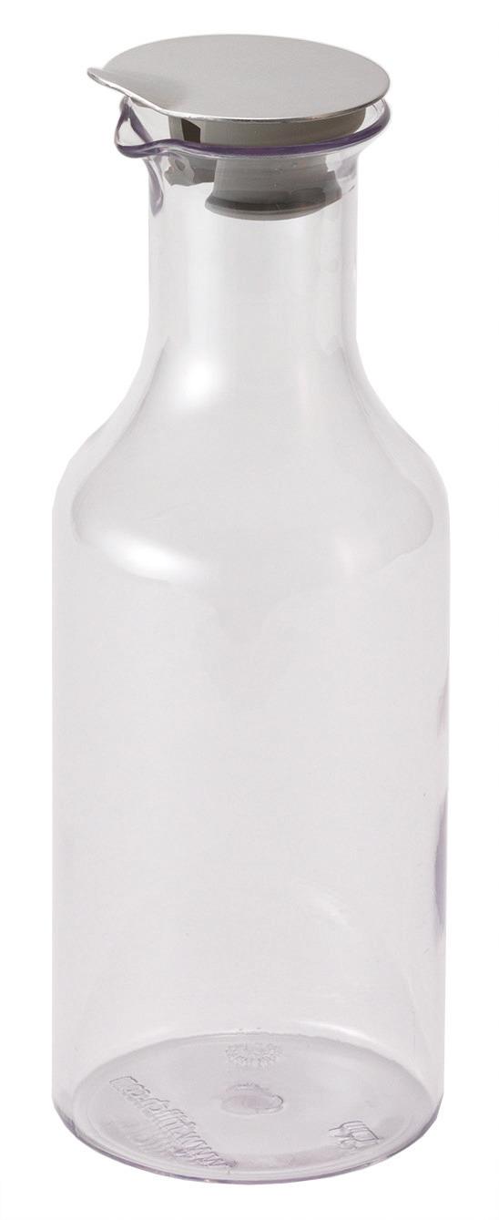 Kunststoffkaraffe 1,20 l mit Edelstahldeckel