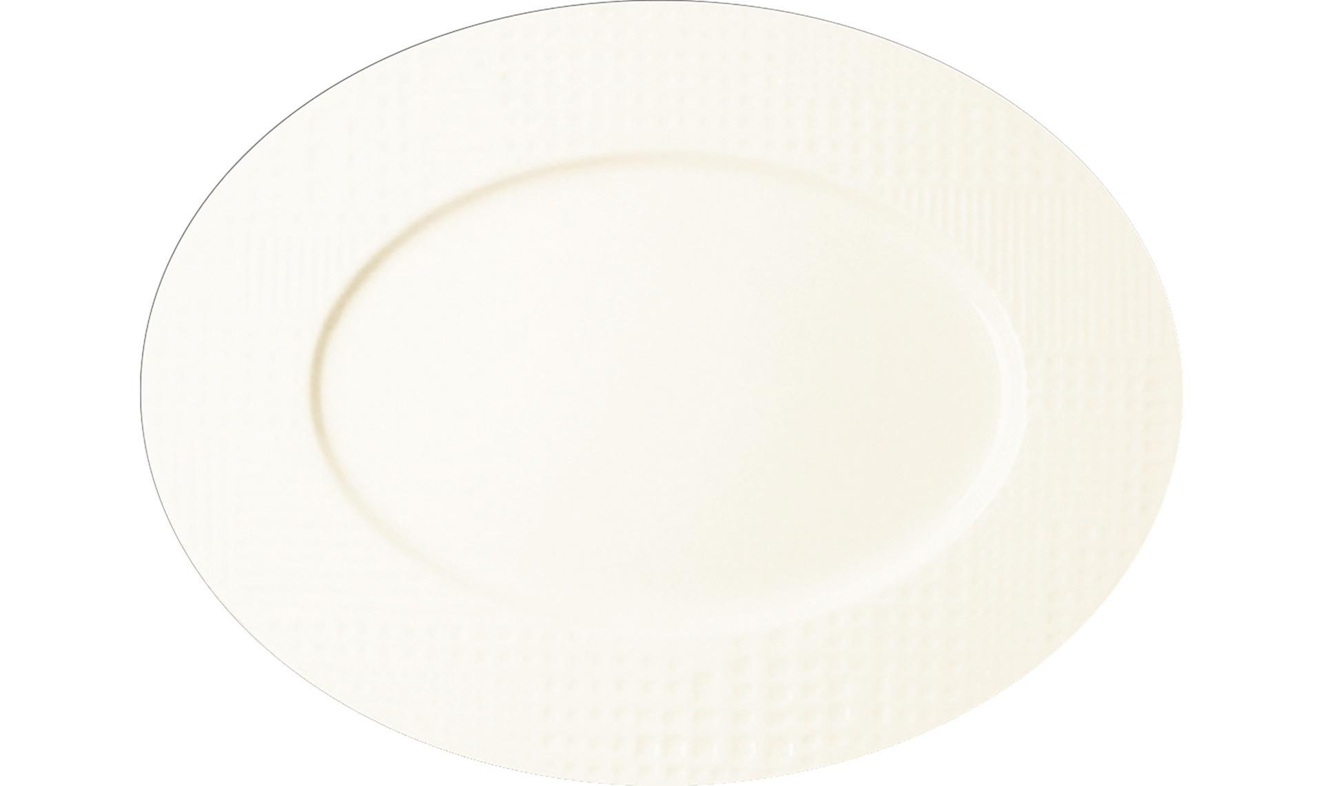 Platte oval 340 mm crème