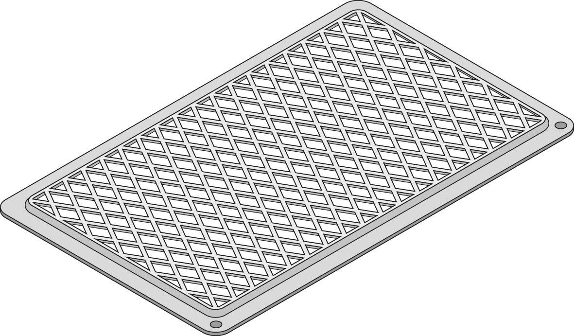 Kreuz- und Streifen-Grillrost GN 2/3 /  354 x 325 mm / TriLax