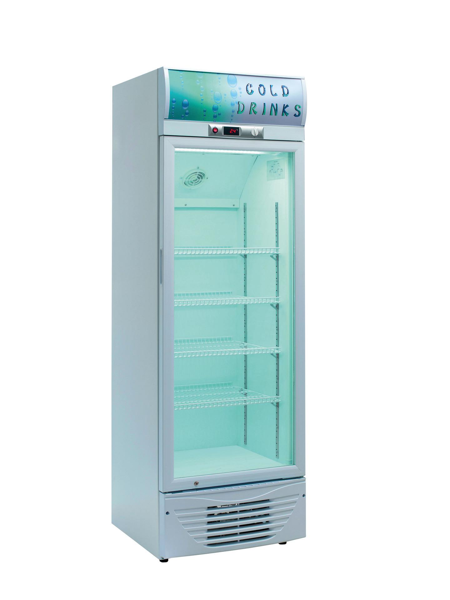 Flaschenkühlschrank Glastür 278 l 595 x 605 x 1900 mm