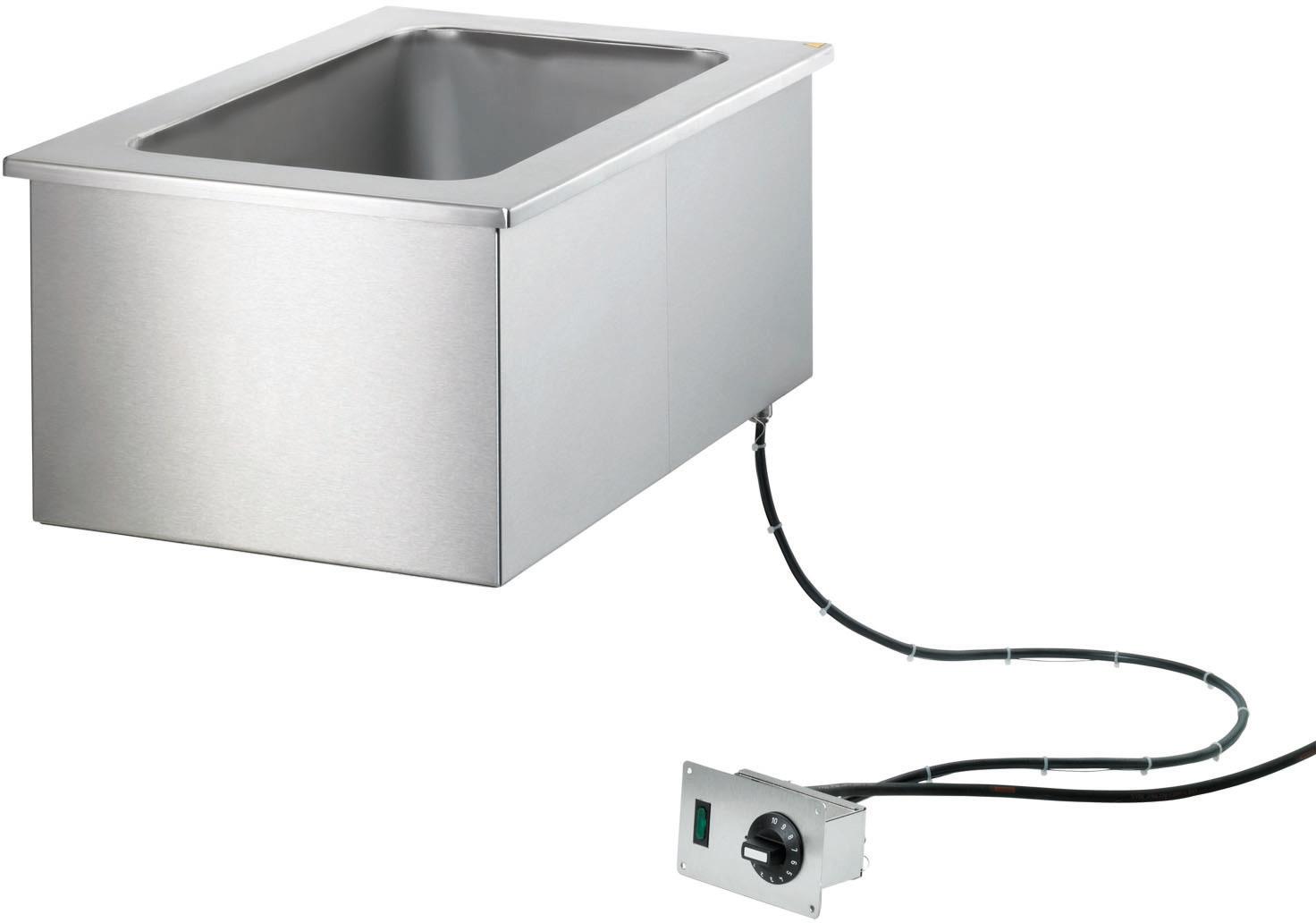 Elektro-Bain Marie Einbaugerät GN 1/1 -  200 mm tief / manuelle Befüllung