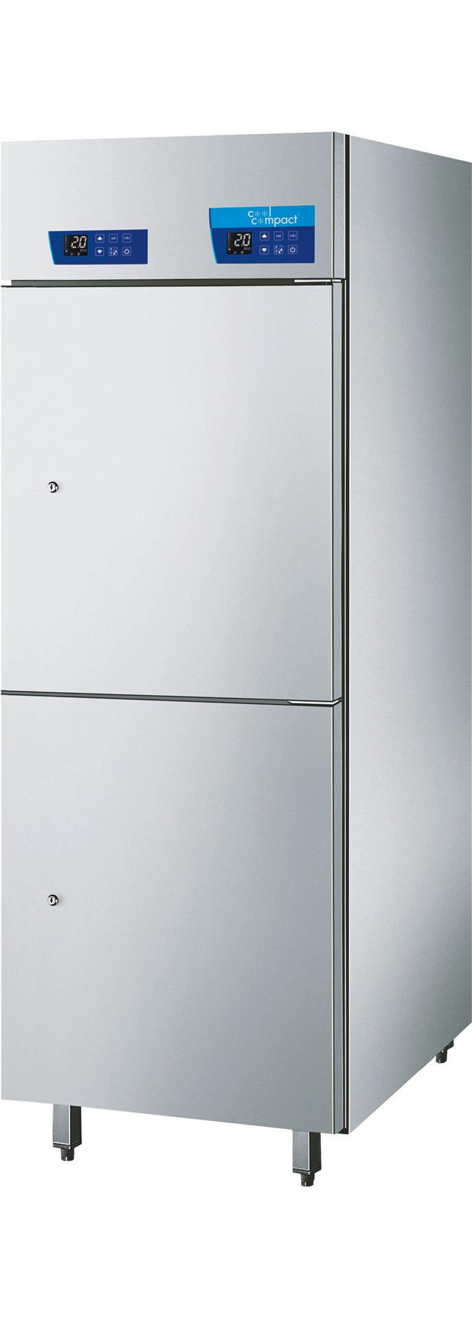 Umluft-Kühlschrank 2-Temperaturen  10 x GN 2/1 + 8 x GN 2/1 /zentralgekühlt