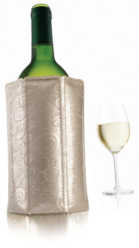 Kühlmanschette 140 x 20 x 175 mm für Mineral- / Weinflaschen platin