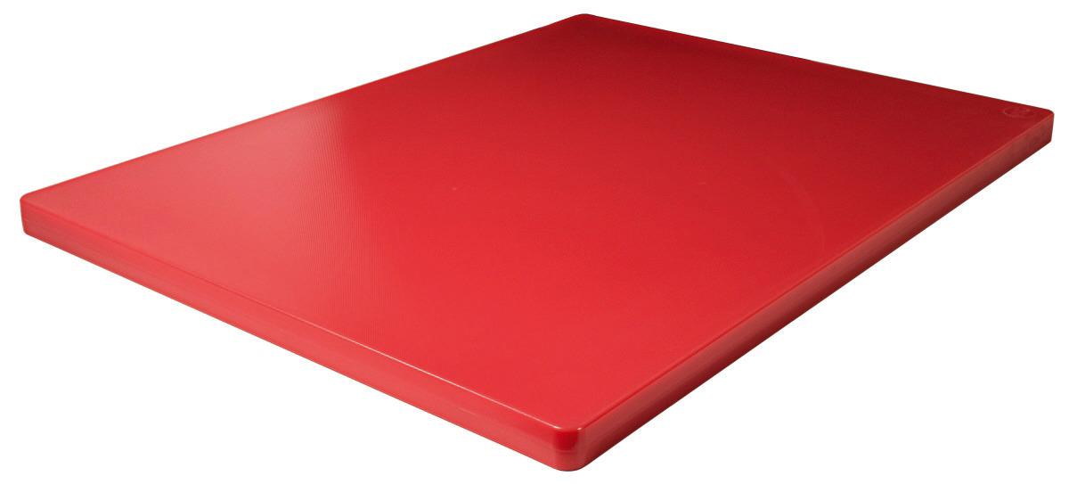 Schneidbrett HACCP 610 x 460 x 25 mm ohne Füßchen / rot