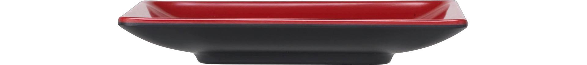 Platte quadratisch 127 x 127 x 19 mm rot-schwarz