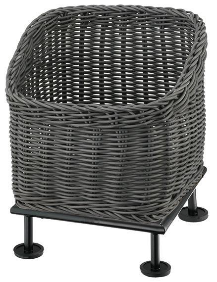 Brotkorb 330 x 330 mm 6,50 l grau /  mit S-Standfuß Black Steel