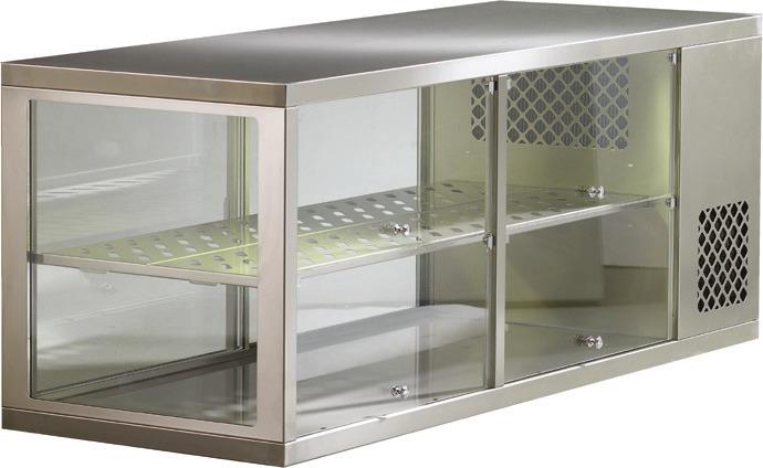 Aufsatzkühlvitrine 4 SB-Klappen /  Nettoinhalt 221,00 l / steckerfertig