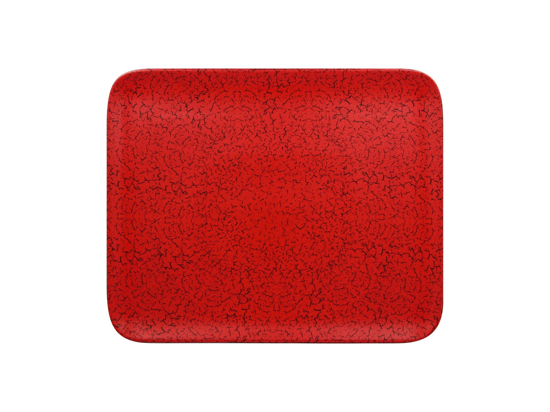 Platte rechteckig 330 x 270 mm rot