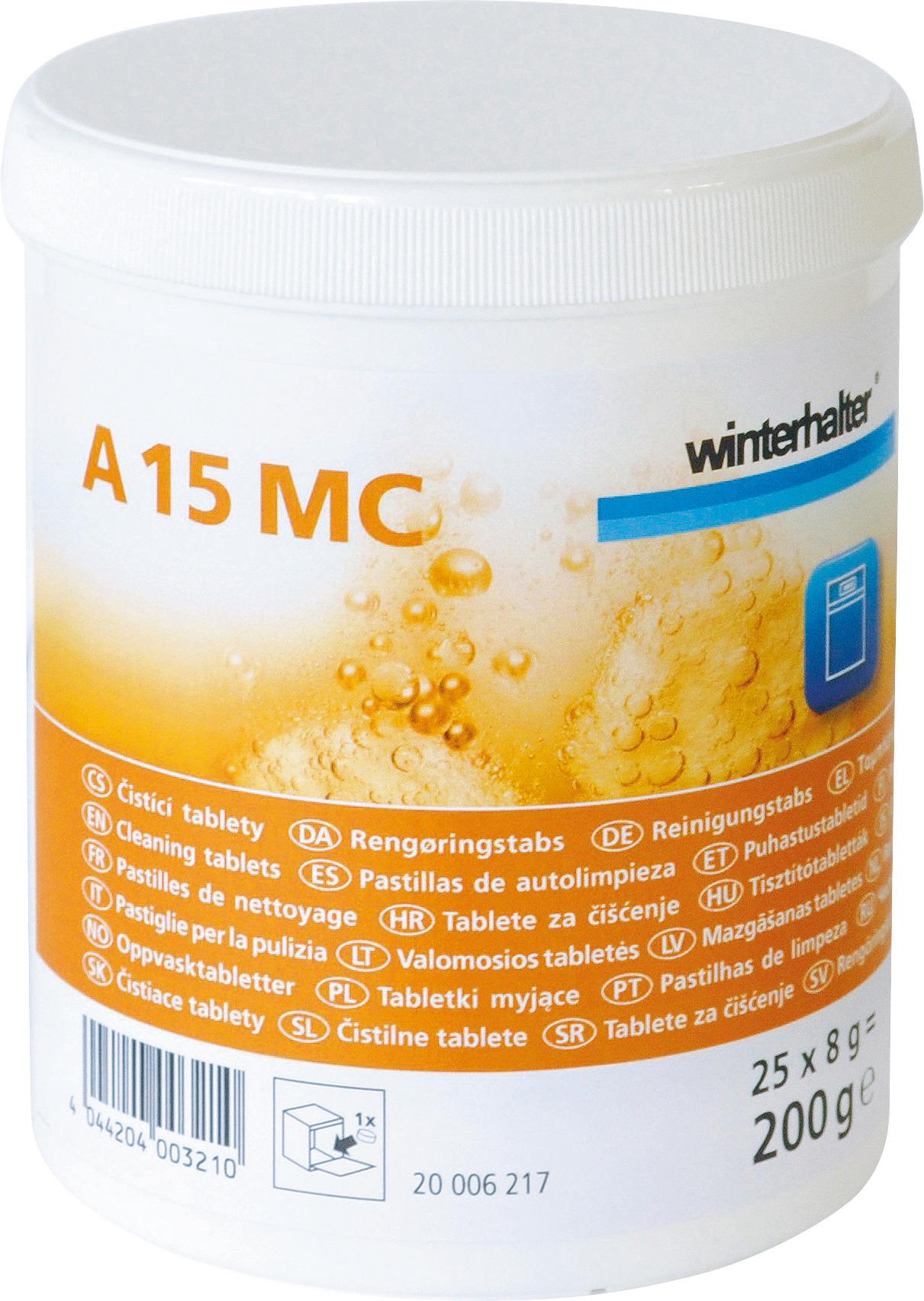 Reinigungstabs A 15 MC / 0,20 kg / Karton je 10 Dosen