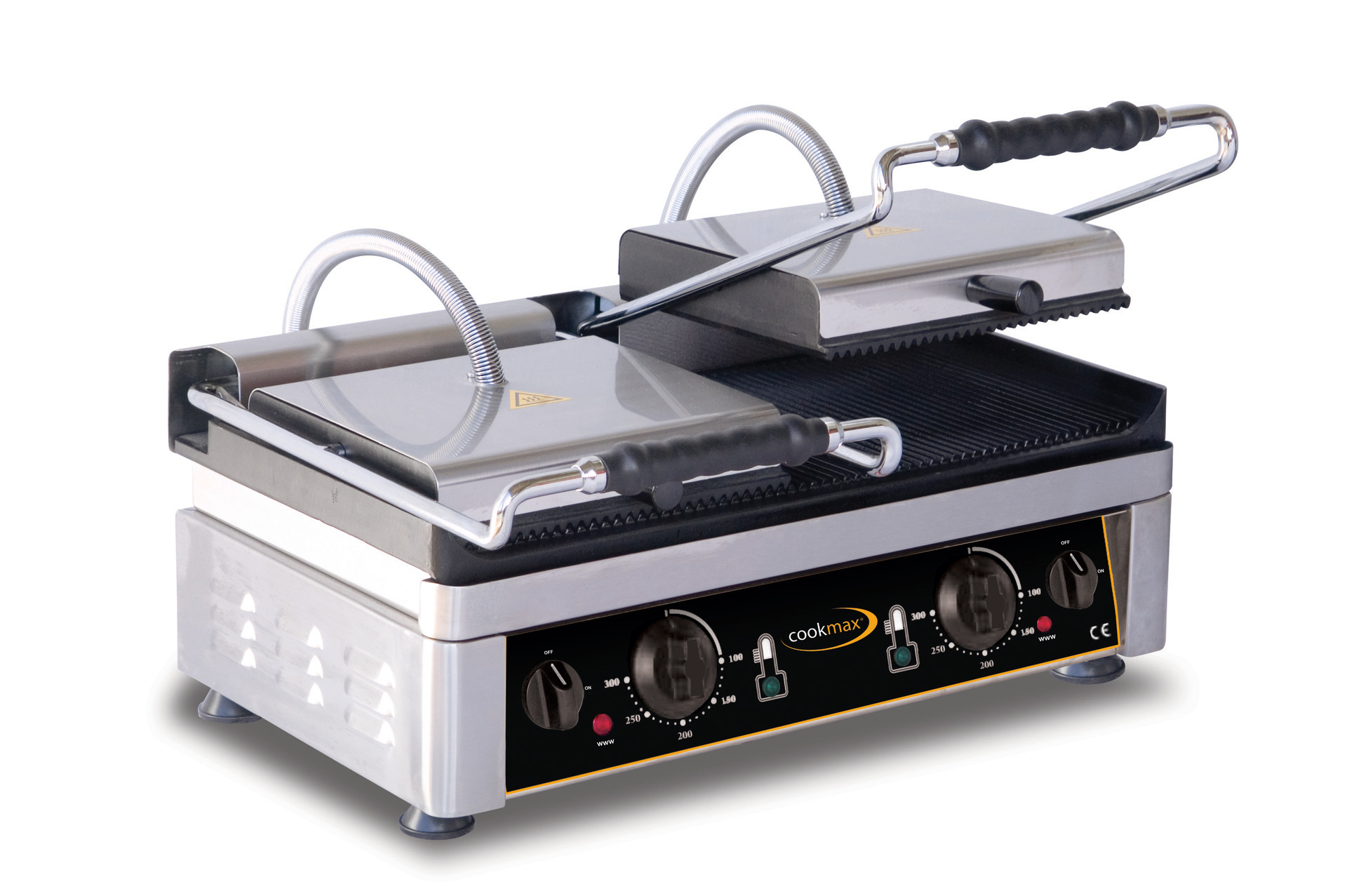 Elektro-Kontaktgrill oben + unten gerillt 560 x 440 x 300 mm