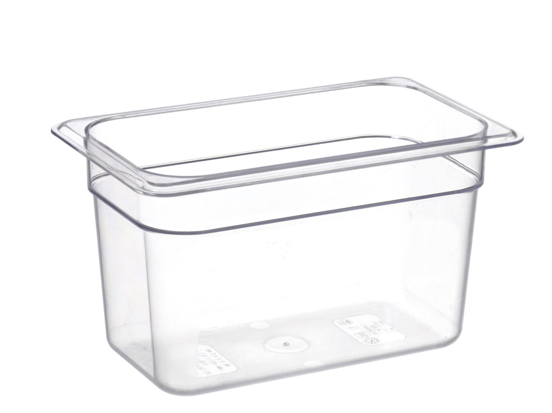GN-Behälter GN 1/4 265 x 162 x 150 mm Polycarbonat transparent