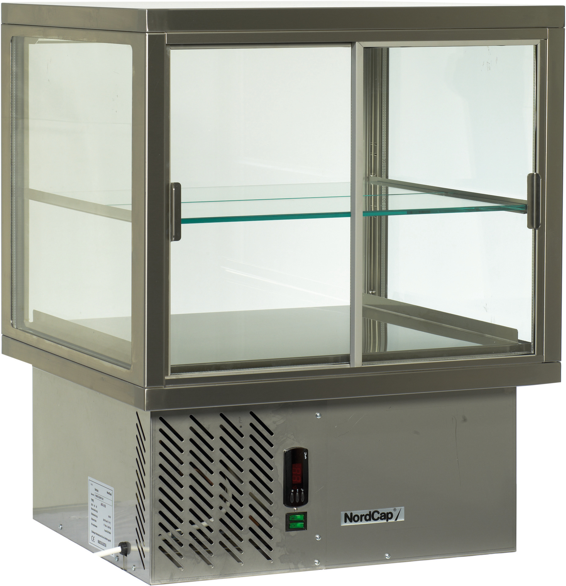 Aufsatzkühlvitrine 4-seitig verglast /  Nettoinhalt 141,00 l / steckerfertig