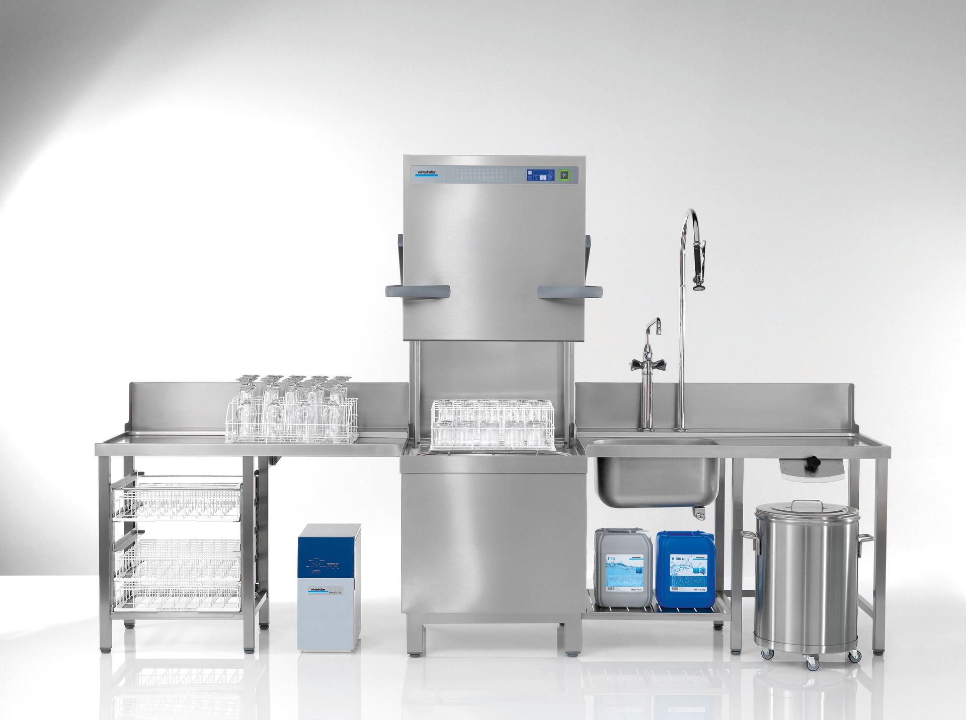 Durchschubspülmaschine PT-L / 500x500 mm mit Klarspüler-/und Reinigerdosiergerät