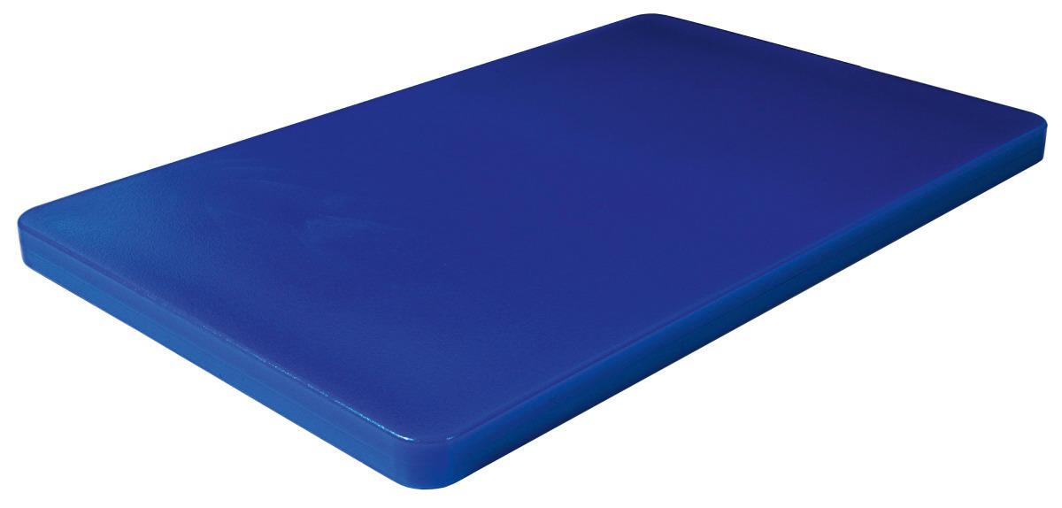 GN-Schneidbrett HACCP GN 1/1 530 x 325 x 25 mm mit Füßchen / blau
