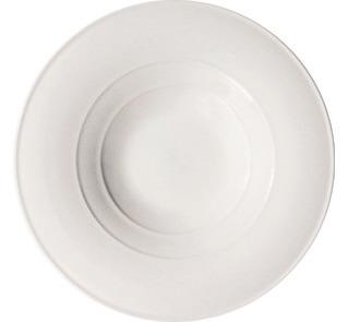 Pastateller 300 mm mit Servierfläche 140 mm weiß