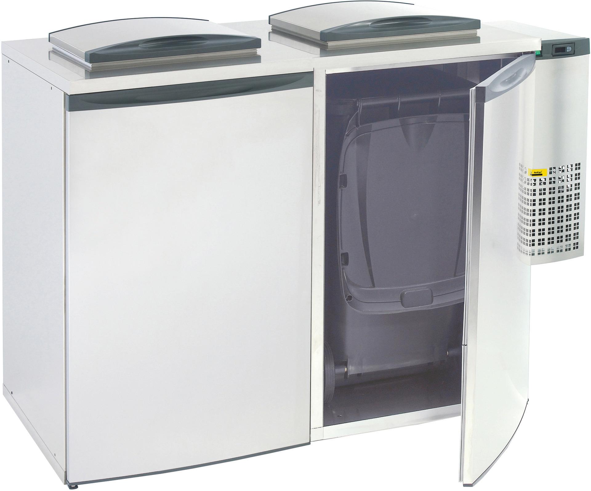 Abfall- / Konfiskatkühler für  2 x 240,00 l / steckerfertig