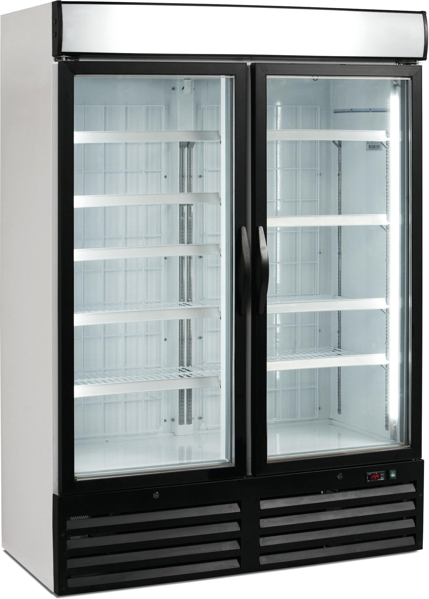 Umluft-Glastürentiefkühlschrank 984,00 l / mit beleuchtetem Werbe-Display